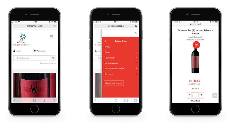 beckgrafikdesign - die getränkeoase – Onlineshop